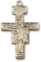 Blissliving Home San Damiano Gold-Filled Rosary Crucifix