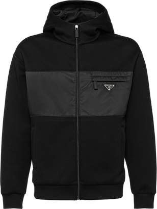 Prada Technical cotton fleece jacket