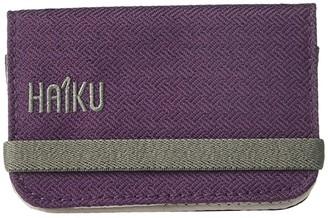 Haiku RFID Mini Wallet 2.0 (Blackberry) Handbags