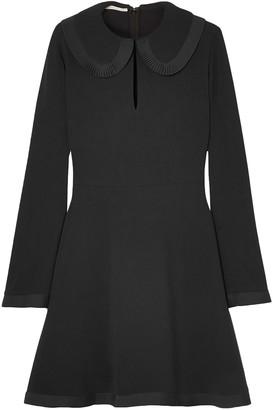 Stella McCartney Pleated Satin-trimmed Cady Dress