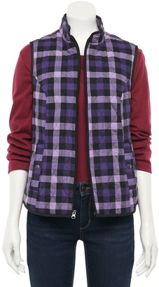 Croft & Barrow Petite Woven Quilted Vest