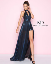 Mac Duggal 77423L Halter Neck Romper with Overskirt Gown