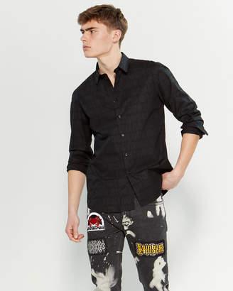 Love Moschino Black Gothic Logo Long Sleeve Shirt
