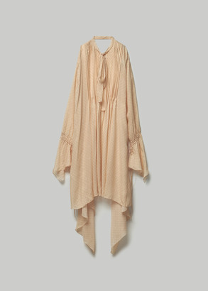 Lanvin Women's Long Silk Dress in Cream Size 38