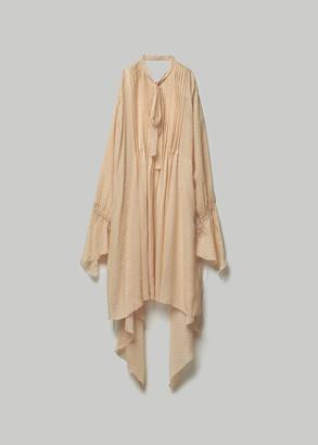 Lanvin Women's Long Silk Dress in Cream Size 38