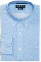Lauren Ralph Lauren Men's Classic/Regular Fit Non-Iron Gentry Blue Vineyard Floral Print Dress Shirt
