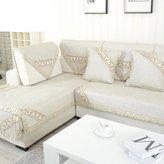 NJHK European-style sofa ushions/Simple fabri sofa sets made of linen