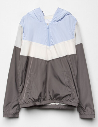 Full Tilt Half Zip Cozy Colorblock Girls Jacket