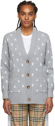 Burberry Grey Monogram Palena Cardigan