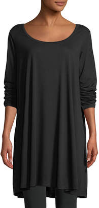 Joan Vass Petite Scoop-Neck Long-Sleeve Tunic