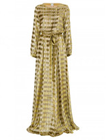 Ines de la Fressange adele long dress in gold