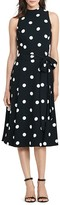 Lauren Ralph Lauren Petites Polka-Dot Dress