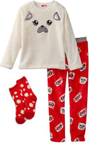 Petit Lem Frencie Pajama Set & Socks (Little Girls)