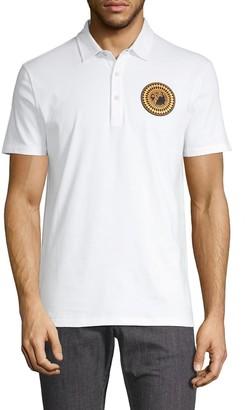 Versace Logo Patch Cotton Polo