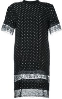 Givenchy lace panel T-shirt dress - women - Silk/Cotton/Polyamide/Spandex/Elastane - 40