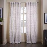 west elm Cotton Canvas Vine Leaves Curtain - Frost Gray