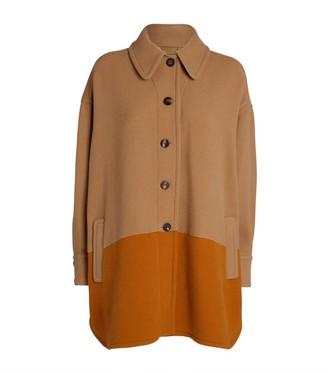 Chloé Two-Tone Shirt Coat