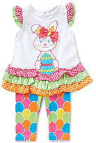 Rare Editions Baby Girls 3-24 Months Easter Bunny Dress & Egg-Print Leggings Set