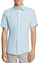 Zachary Prell Kaplan Linen Regular Fit Button-Down Shirt