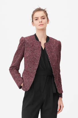 Rebecca Taylor Tailored Knit Tweed Jacket