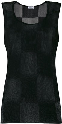 Versace Pre Owned Checked Sleeveless Tank
