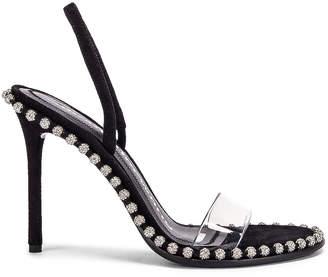 Alexander Wang Nova Crystal Heel in Black | FWRD