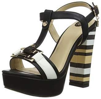 Laura Biagiotti Women's Angie Open Toe Heels, Black (Nero 01), (37 EU)