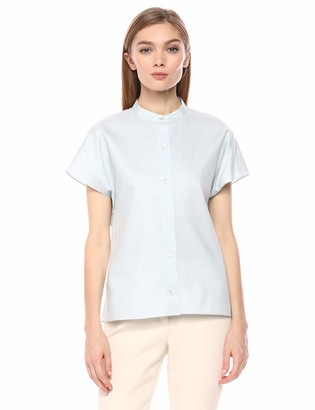 Theory Women's Short Sleeve Button UP Dolman Shirt