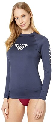 Roxy Whole Hearted Long Sleeve Rashguard (Deep Claret) Women's Swimwear