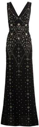 Cucculelli Shaheen Astra Embellished Sleeveless Dress