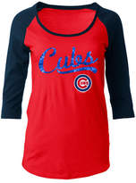 5th & Ocean Women's Chicago Cubs Sequin Raglan T-Shirt