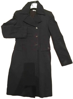 Anna Molinari Black Cotton Coat for Women