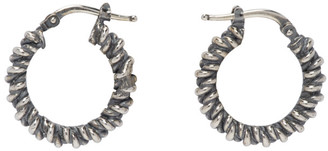 Ugo Cacciatori Silver Tiny Torcetto Earrings
