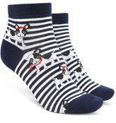 Forever 21 Striped Boston Terrier Socks