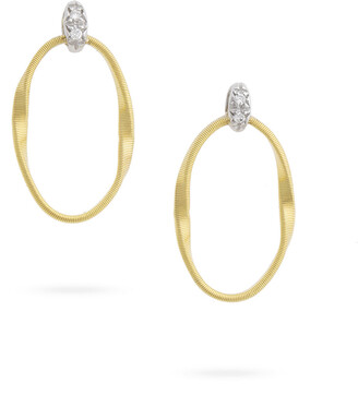 Marco Bicego Marrakech Onde Small Oval Loop Stud Earrings with Diamonds