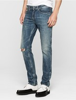 Calvin Klein Slim Straight Distressed Jeans