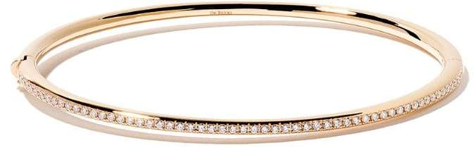 De Beers 18kt yellow gold Micropavé diamond bangle