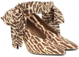 Zimmermann Leopard stretch-knit pumps