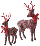 Martha Stewart Living Plaid Deer Duo - Set of 2