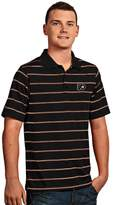 Antigua Men's Philadelphia Flyers Deluxe Striped Desert Dry Xtra-Lite Performance Polo