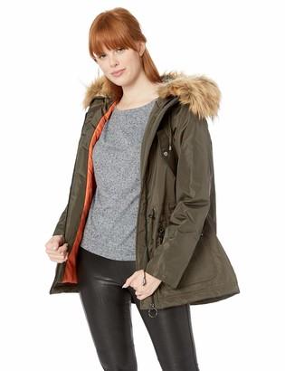 Madden-Girl Women's Plus Size Nylon Fashion Anorak Jacket