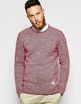 Penfield Jumper With Melange Knit - Red