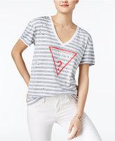 GUESS Striped Logo T-Shirt