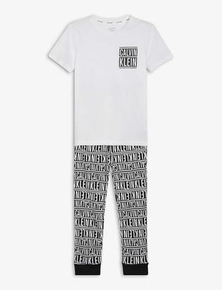 Calvin Klein Logo-print cotton pyjama set 8-16 years