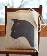 Bird Sooty Black Cat Handy Bag