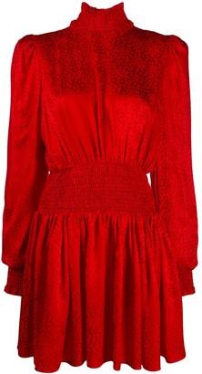 Balmain Jacquard Leopard Short Dress