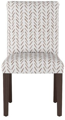 Skyline Furniture Cotton Parsons Chair Upholstery: Chocolate Abstract