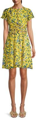 Sam Edelman Botanical-Print Mini Dress