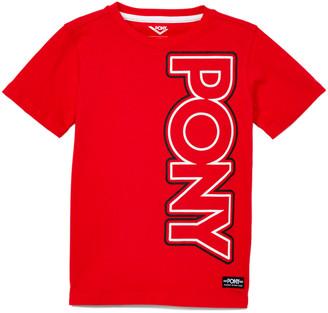 Pony Boys' Tee Shirts RACING - Racing Red Side Logo Crewneck Tee - Boys