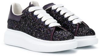 ALEXANDER MCQUEEN KIDS Glittered Sneakers